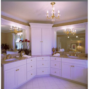 Anson Pure White bath, Omega Cabinetry
