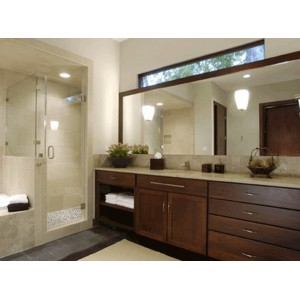 Arena bath, CWP Cabinetry