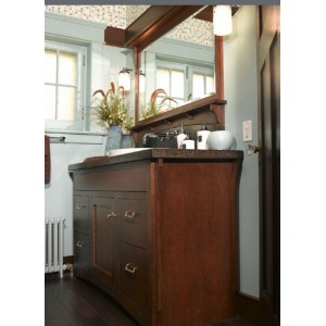 Arts & Crafts bath, Omega Cabinetry