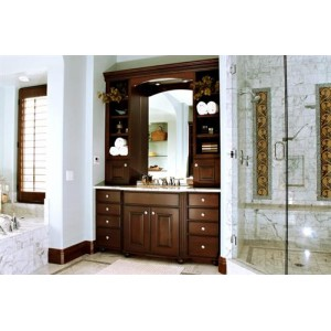 Charleston Molasses bath, Custom Cupboards