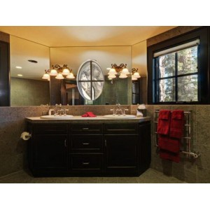 Chisholm Domino bath, Custom Cupboards