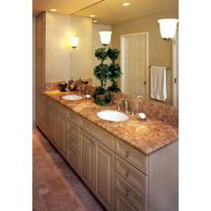 Contemporary bath, CWP Cabinetry