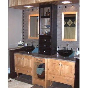 Contrasting bath, Great Northern Cabinetry