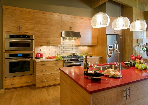 Mouser usa kitchens and baths manufacturer for Bamboo wood kitchen cabinets