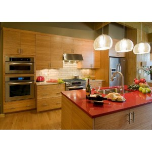 Bamboo with Horizontal Grain kitchen, Mouser