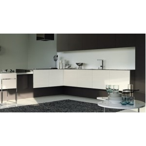 Contempora Black Silver Yellow Pine kitchen, Aster Cucine