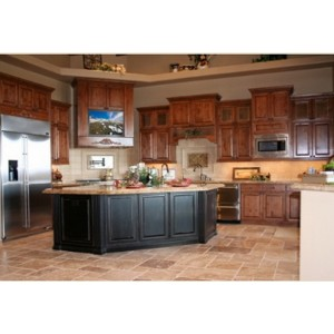 Knotty Alder kitchen, OakCraft