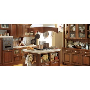 Sintonia Walnut kitchen, Aster Cucine
