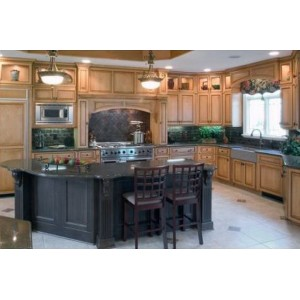 Stylist Santa Fe kitchen by Candlelight Cabinetry