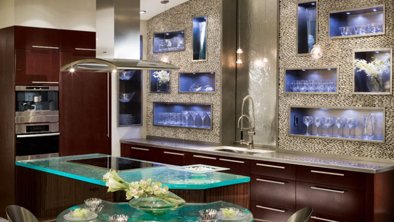 Contemporary Ultra Kitchen, Columbia Cabinets. Contemporary Ultra