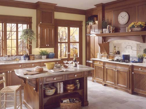 Swedish Country Kitchen, Wood Mode. Swedish Country