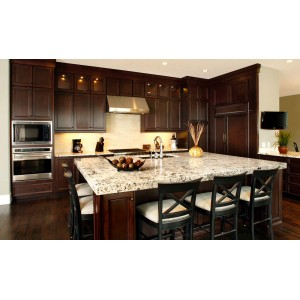 Deep Dark Chocolate kitchen by Huntwood