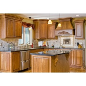 Family kitchen, Jim Bishop Cabinets