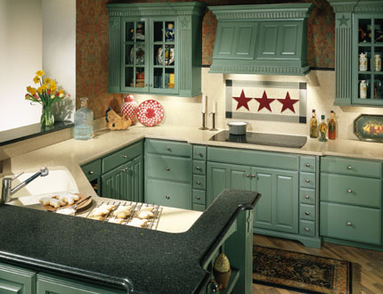 Moss Green Kitchen, Fieldstone. Moss Green