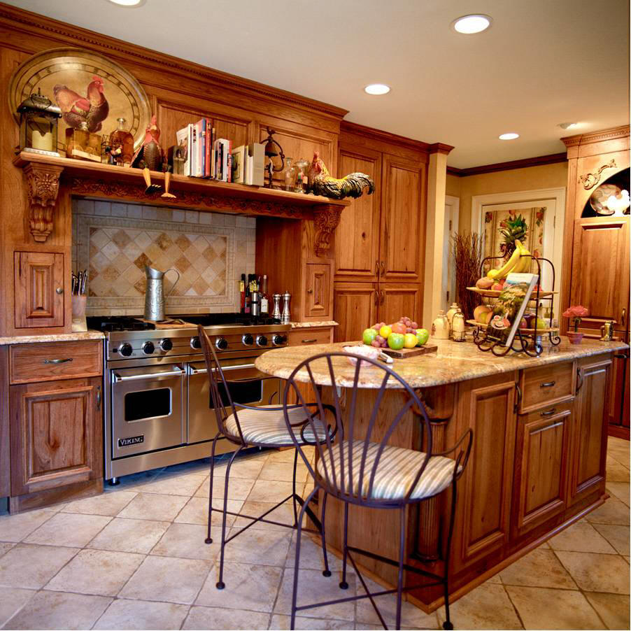 Country Cabinets For Kitchen: Kitchens And Baths Manufacturer