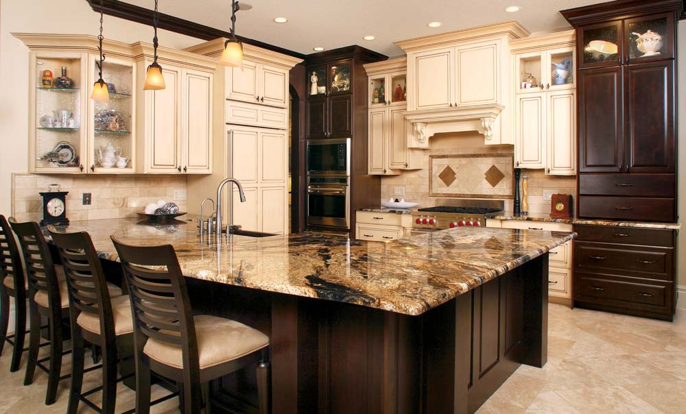 Huntwood usa kitchens and baths manufacturer for Dark brown kitchen ideas