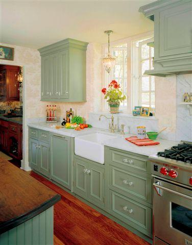 Painted Sage Green Kitchen
